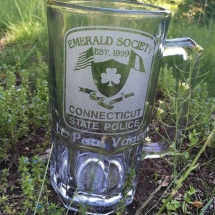 Custom branded glass